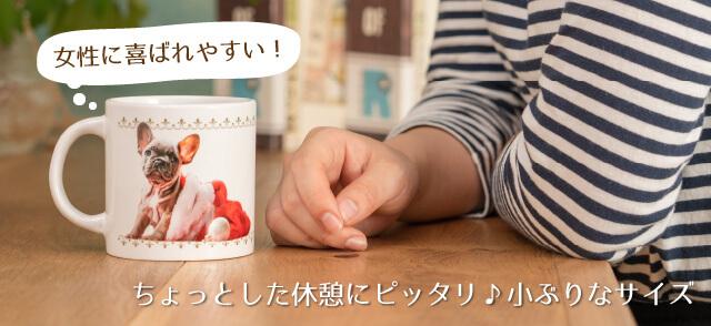 うちの子ショートマグカップのサイズはコーヒー休憩にピッタリのこぶりサイズ