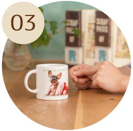 うちの子オリジナルペアショートマグカップのご購入にオススメのシーン3。日常で使えるグッズに