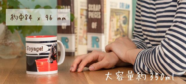 うちの子オリジナルペアバイカラーマグカップのサイズ