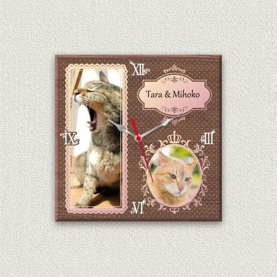 ペットのお写真からつくる!オリジナル時計 プリンセスレース画像