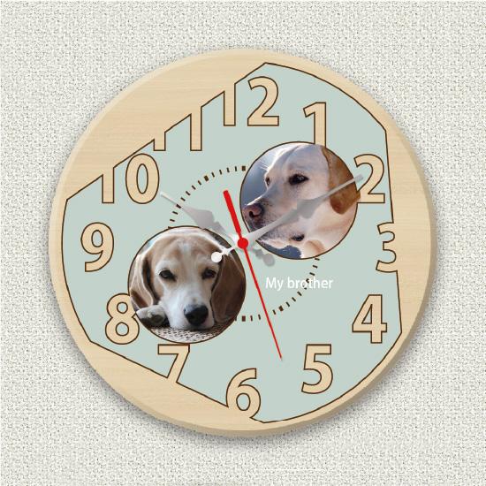 ペットのお写真からつくる!オリジナル時計 シンプルブルー画像