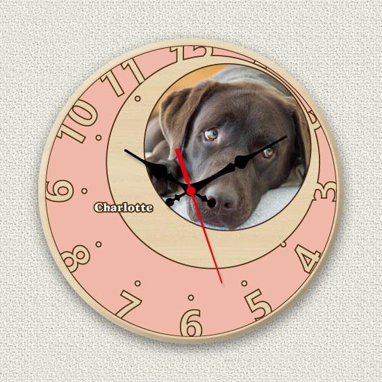 ペットのお写真からつくる!オリジナル時計 ローズピンクムーン画像