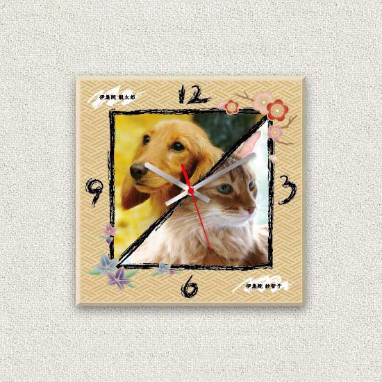 ペットのお写真からつくる!オリジナル時計 みやび画像
