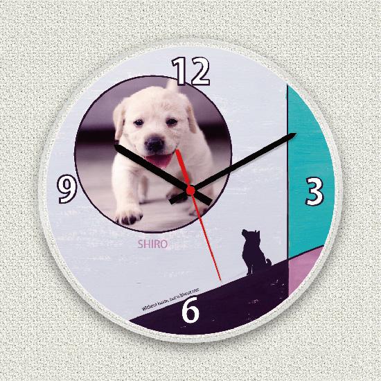 ペットのお写真からつくる!オリジナル時計 シャドウ画像