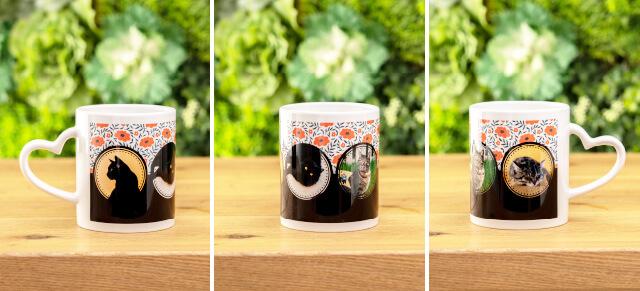 うちの子ハートマグカップは取っ手のハートがかわいいうちの子グッズ。デザイン性の高いおしゃれなうちの子グッズを制作できます。