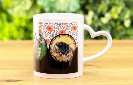 熱いお茶やコーヒーももちろん大丈夫なうちの子ハートマグカップ
