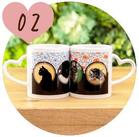 うちの子オリジナルペアハートマグカップのご購入にオススメのシーン2。ご結婚祝いに