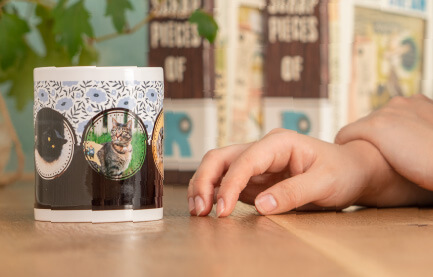 うちの子ペアハートマグカップは電子レンジでの温めも可能