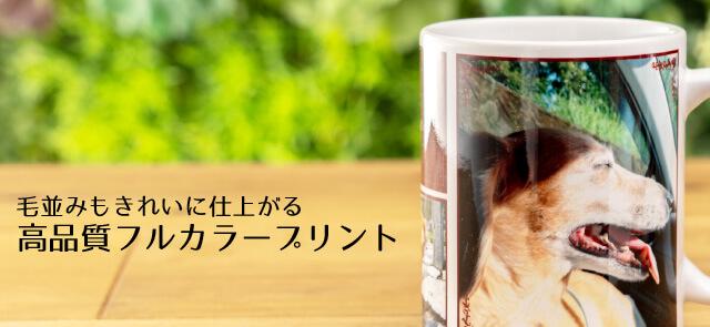 うちの子フルプリントマグカップのお写真のプリントは高品質フルカラープリント