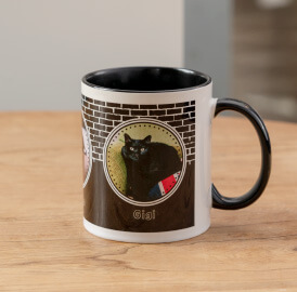 しっかりとした厚みのある陶器製のオリジナルカラーハンドルマグカップ