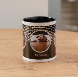 うちの子オリジナルカラーハンドルマグカップは非常に丈夫な陶器製