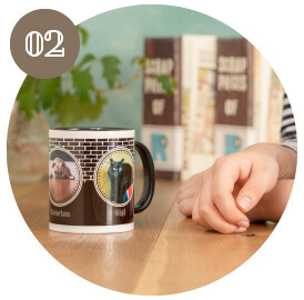 うちの子オリジナルカラーハンドルマグカップのご購入にオススメのシーン2。おしゃれなデザインのうちの子グッズをお探しの方に