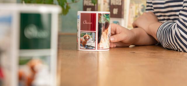 熱いお茶やコーヒーももちろん大丈夫なうちの子ペアフルプリントマグカップ