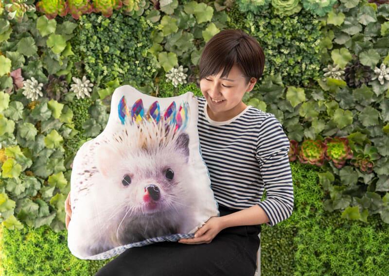ペットの形で作るうちの子オリジナルプリントクッション 60cmサイズ画像