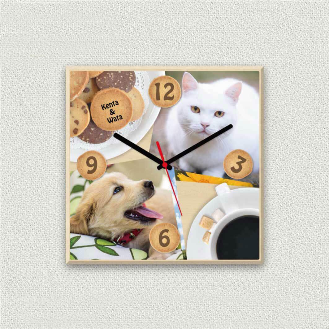 ペットのお写真からつくる!オリジナル時計 ティータイム画像