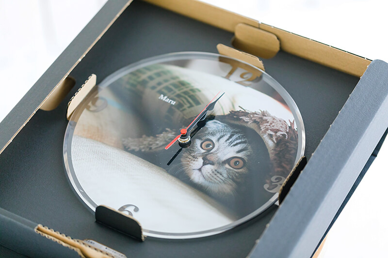 ペットのお写真からつくる!オリジナル時計フォトクロック画像