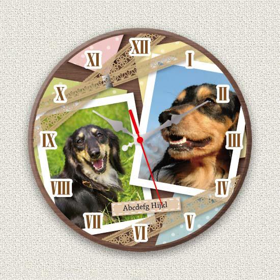 ペットのお写真からつくる!オリジナル時計 ガーリーレース画像