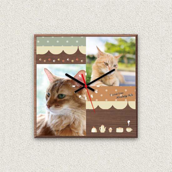 ペットのお写真からつくる!オリジナル時計 カフェテリア画像