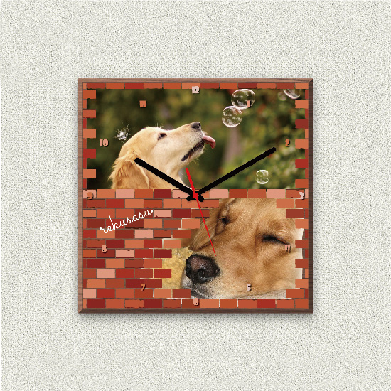 ペットのお写真からつくる!オリジナル時計 ブロック画像