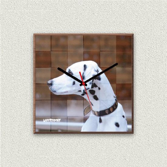 ペットのお写真からつくる!オリジナル時計 パズル画像