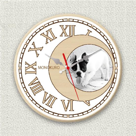 ペットのお写真からつくる!オリジナル時計 ホワイトムーン画像