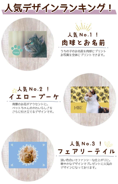 大判オリジナルブランケット人気デザインランキング