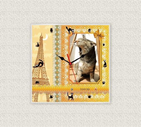 ペットのお写真からつくる!オリジナル時計 パリ画像