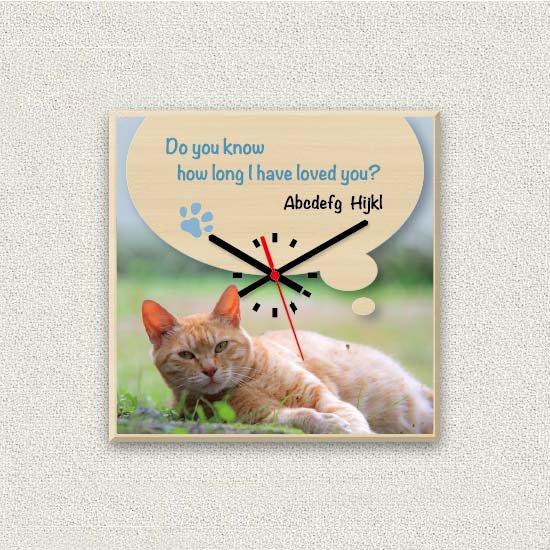ペットのお写真からつくる!オリジナル時計 ナチュラル画像