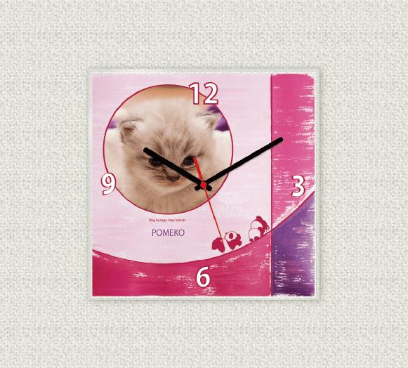 ペットのお写真からつくる!オリジナル時計 リゾートピンク画像
