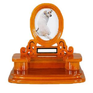 写真立てつきペットちゃん用お仏壇メモリアルスタンドブラウン