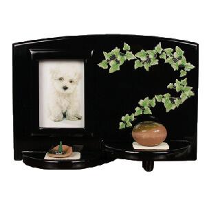 写真立てつきペットちゃん用お仏壇エレガントメモリアルテーブル