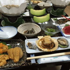 薬研温泉 薬研荘の料理