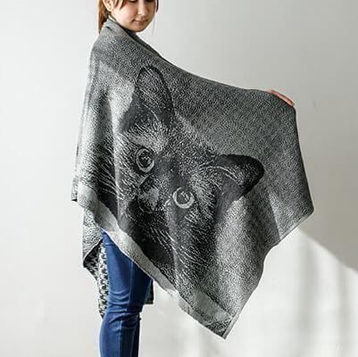 編み込みストール
