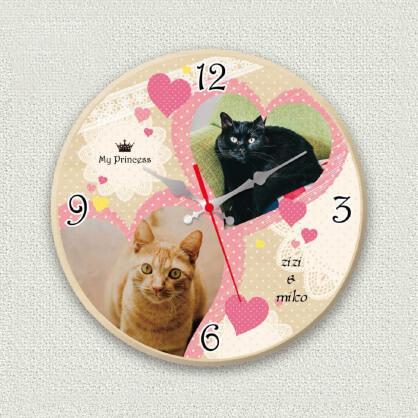 うちの子オリジナル時計ガーリーハート