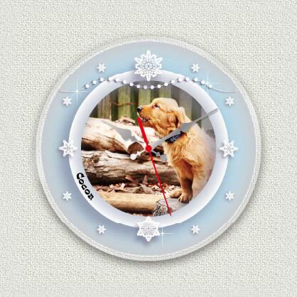 うちの子オリジナル時計スノークリスタル