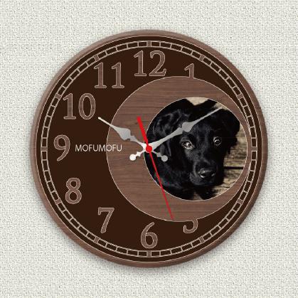 うちの子オリジナル時計ブラウンムーン