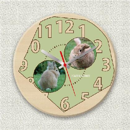 うちの子オリジナル時計シンプルグリーン