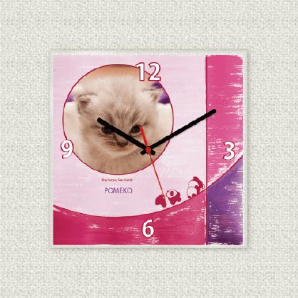 うちの子オリジナル時計リゾートピンク