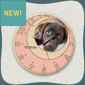 うちの子オリジナル時計ローズピンクムーン