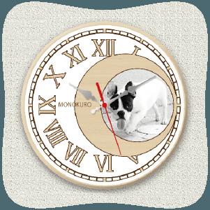 うちの子オリジナル時計ホワイトムーン