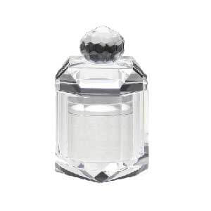 蓮の花のミニ骨壺ホワイト