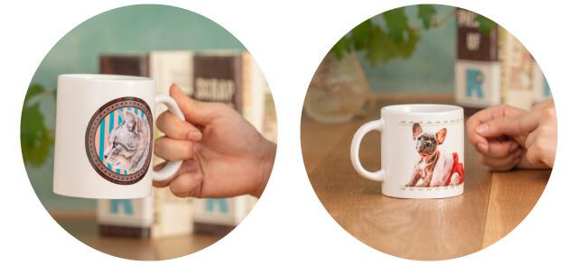 うちの子オリジナルマグカップでは12種類のマグカップをご用意。サイズもご希望に応じて選べます。