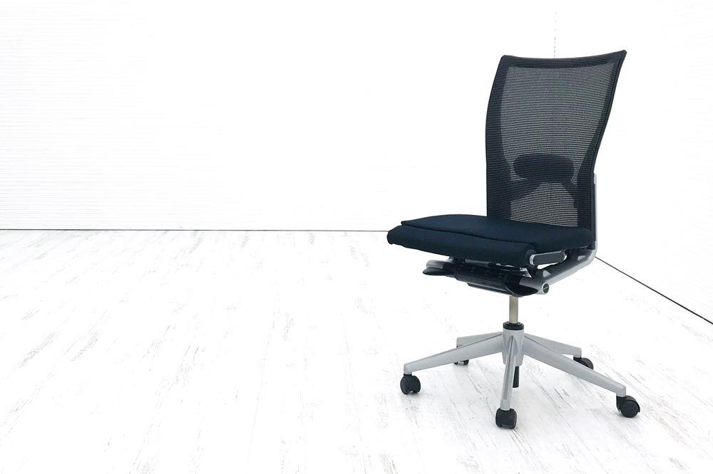 x99チェア ヘイワース haworth x99 中古チェア 座クッション 背メッシュ ブラック 中古オフィス家具 肘無の画像