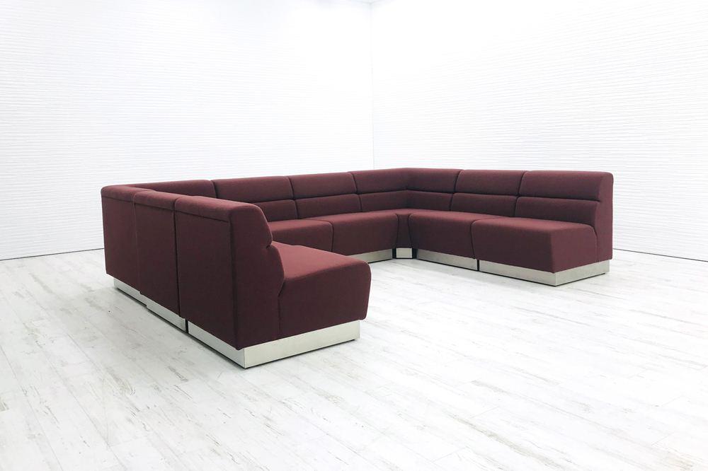 8点セット オカムラ ソファーセット 応接家具 中古ソファ 応接ソファ 応接ソファー 中古オフィス家具の画像