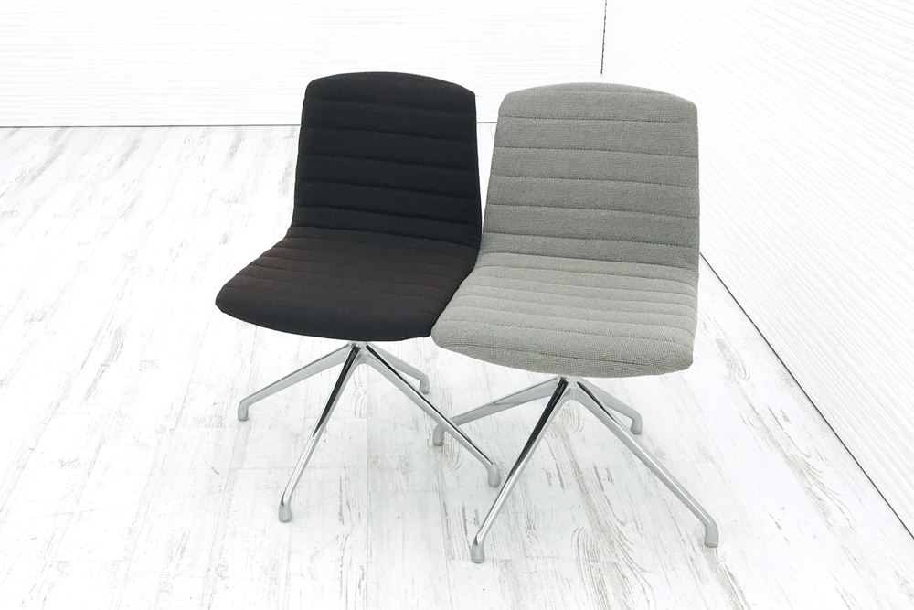 2脚セット ミーティングチェア 中古 相合家具 相合家具製作所 ダイニングチェア 中古オフィス家具の画像