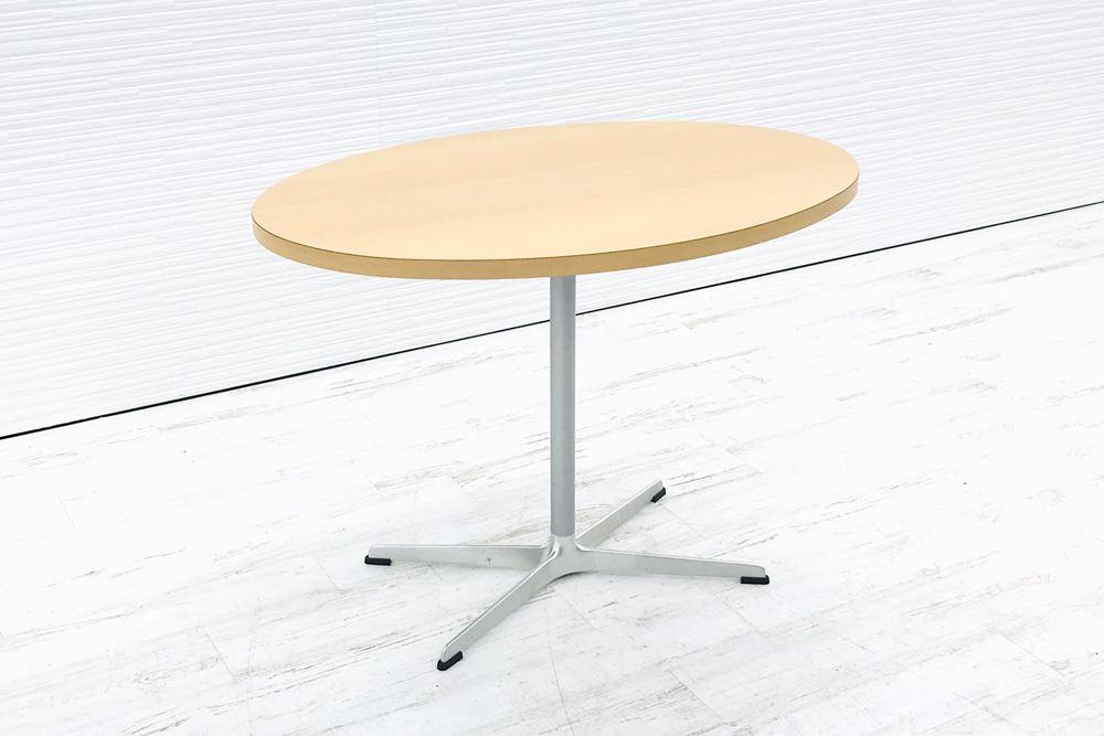 カッシーナ Cassina 丸テーブル 楕円テーブル 中古テーブル ミーティングテーブル W1000×D700×H720 中古オフィス家具の画像