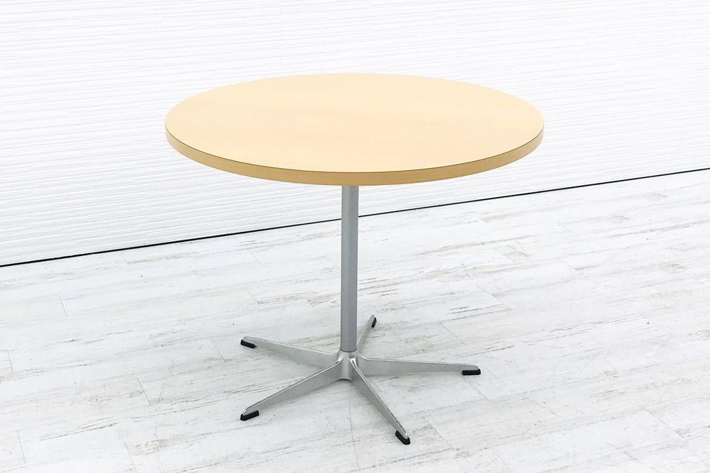カッシーナ Cassina 丸テーブル 中古テーブル ミーティングテーブル W900 中古オフィス家具の画像