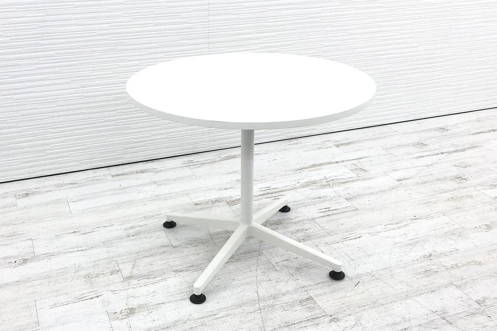 コクヨ 丸テーブル 中古テーブル ミーティングテーブル W900 中古オフィス家具 ホワイト MTT-JTE9MAWの画像