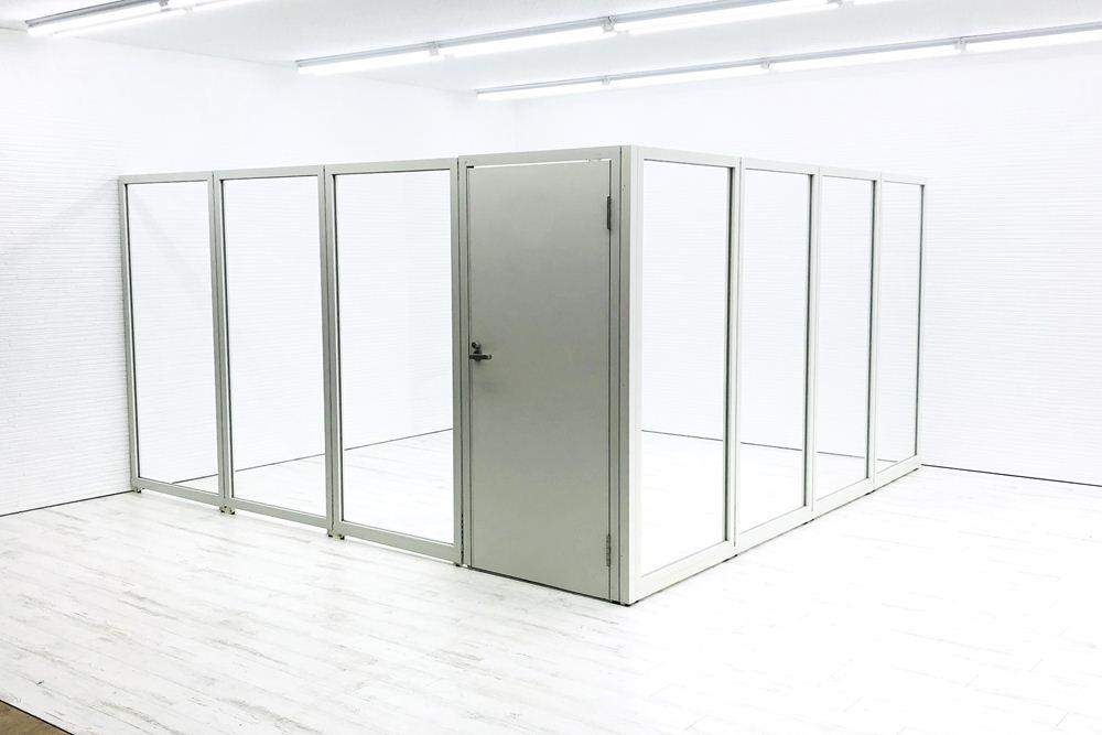 パーテーション パーティション 中古 プラス 【4枚×4枚セット】 ホワイト 間仕切り 幅900mm 高1900mm の画像