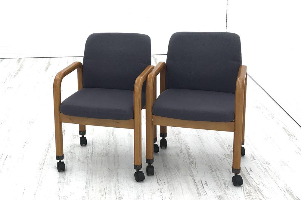 2脚セット ライオン LION クッション 事務椅子 ミーティングチェア 中古 中古オフィス家具の画像